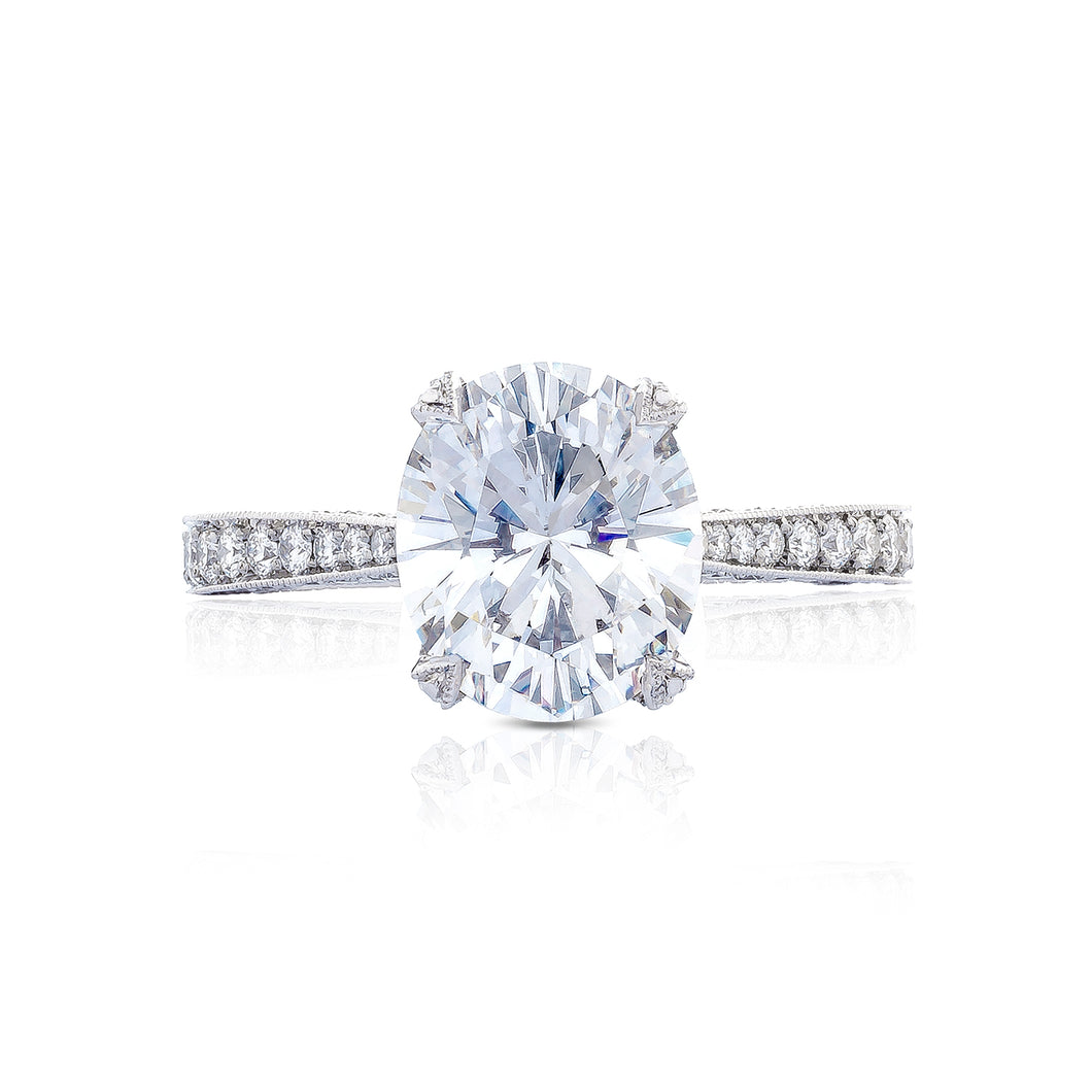 Tacori RoyalT Oval Diamond Engagement Ring (0.75 CTW)