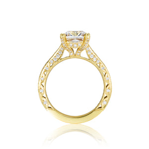 Tacori RoyalT Princess Diamond Engagement Ring (0.73 CTW)