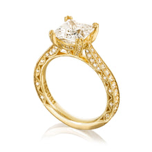 Load image into Gallery viewer, Tacori RoyalT Princess Diamond Engagement Ring (0.73 CTW)