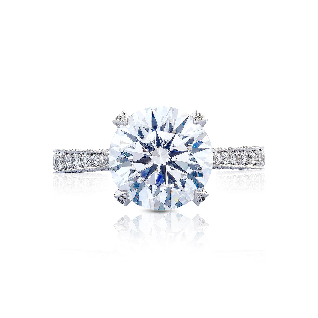 Tacori RoyalT Round Diamond Engagement Ring (0.75 CTW)