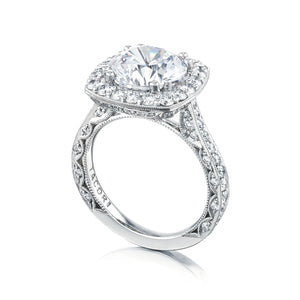 Tacori RoyalT Round Diamond Engagement Ring (1.31 CTW)