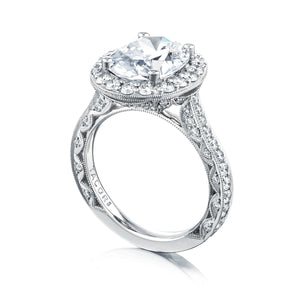 Tacori RoyalT Oval Diamond Engagement Ring (1.26 CTW)
