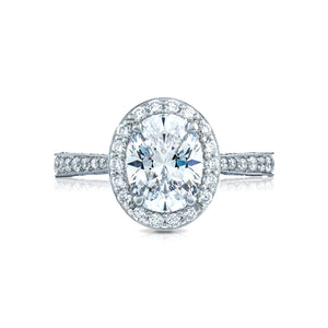 Tacori RoyalT Oval Diamond Engagement Ring (0.96 CTW)