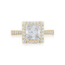 Load image into Gallery viewer, Tacori RoyalT Princess Diamond Engagement Ring (0.98 CTW)