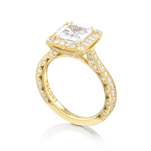 Tacori RoyalT Princess Diamond Engagement Ring (0.98 CTW)