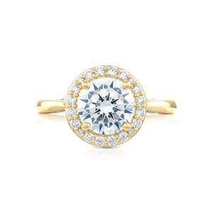 Tacori RoyalT Round Diamond Engagement Ring (0.48 CTW)