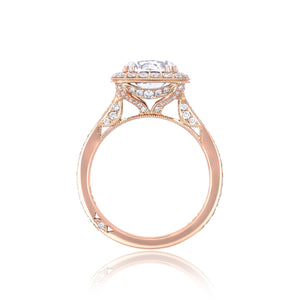 Tacori RoyalT Round Diamond Engagement Ring (0.76 CTW)
