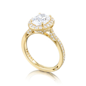 Tacori RoyalT Oval Diamond Engagement Ring (0.7 CTW)