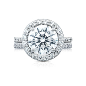 Tacori RoyalT Round Diamond Engagement Ring (0.97 CTW)