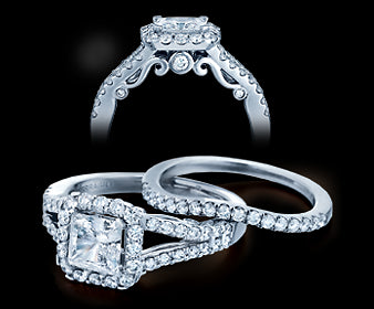 Verragio Insignia Princess Diamond Engagement Ring (0.65 CTW)