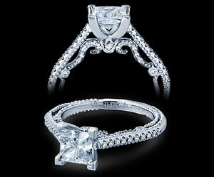 Verragio Insignia Princess Diamond Engagement Ring (0.25 CTW)