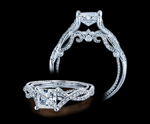 Verragio Insignia Princess Diamond Engagement Ring (0.35 CTW)