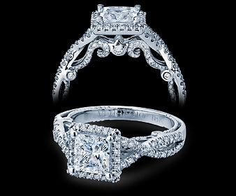Verragio Insignia Princess Diamond Engagement Ring (0.50 CTW)