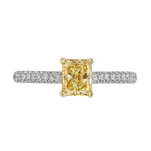 Forevermark Golden Diamonds Solitaire Engagement Ring