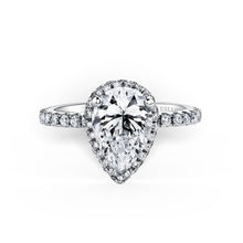 Load image into Gallery viewer, KirkKara Carmella Pear Diamond Diamond Engagement Ring (0.62 CTW)