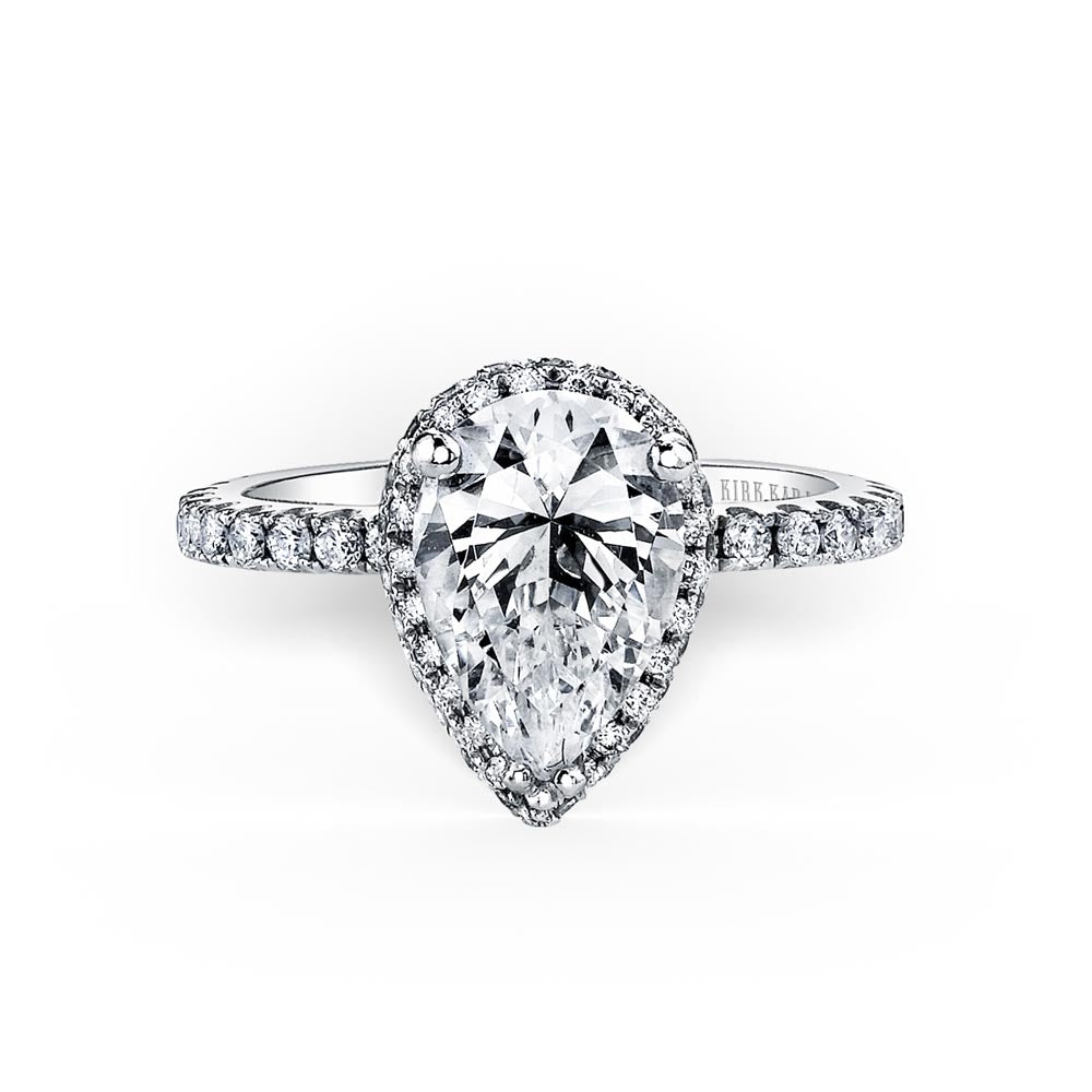 KirkKara Carmella Pear Diamond Diamond Engagement Ring (0.62 CTW)