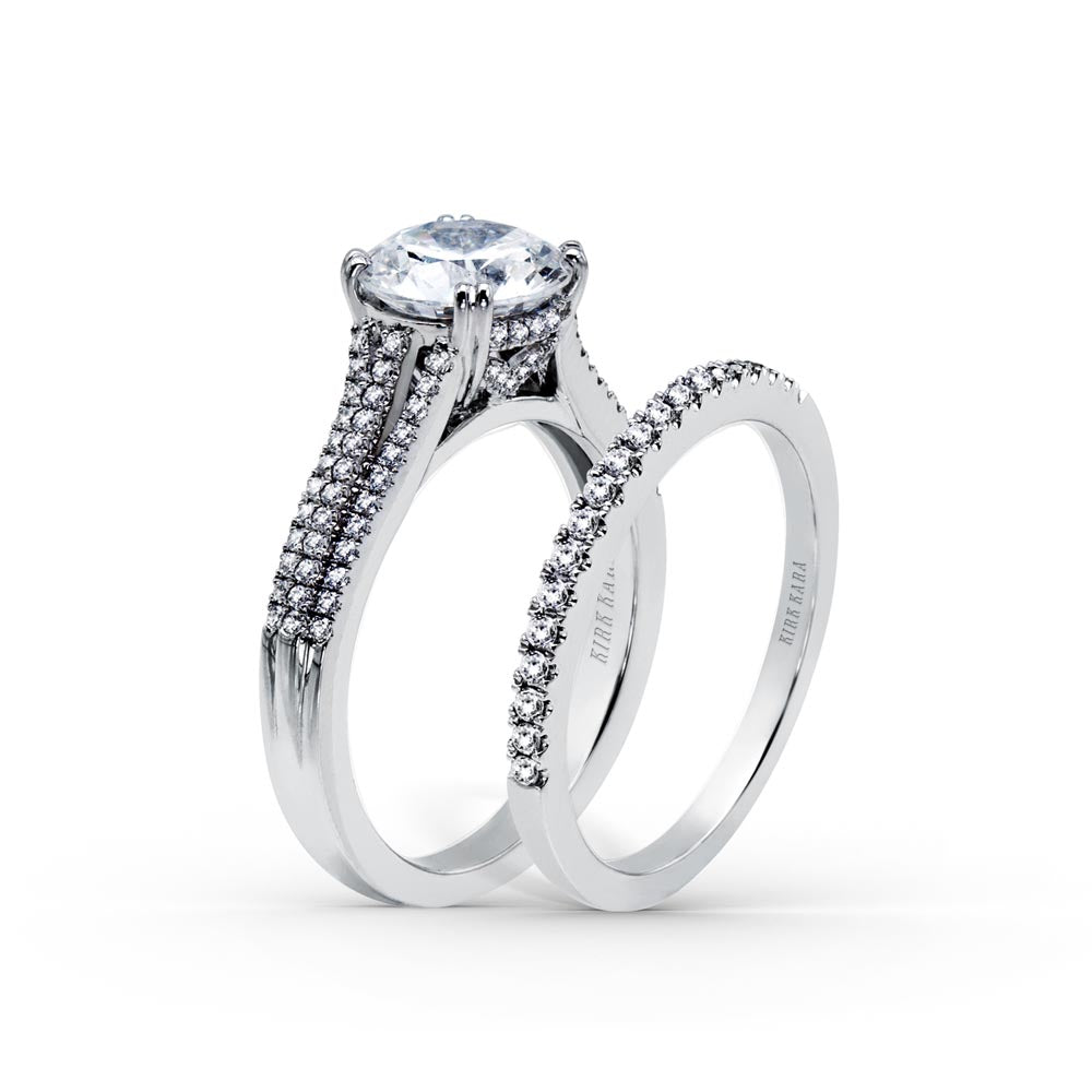 KirkKara Stella Round Diamond Diamond Engagement Ring (0.33 CTW)