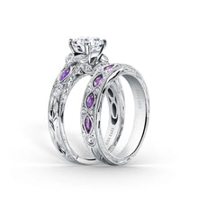 Load image into Gallery viewer, KirkKara Dahlia Round Diamond Diamond Engagement Ring (0.12 CTW)