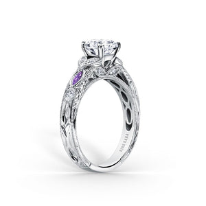 KirkKara Dahlia Round Diamond Diamond Engagement Ring (0.12 CTW)
