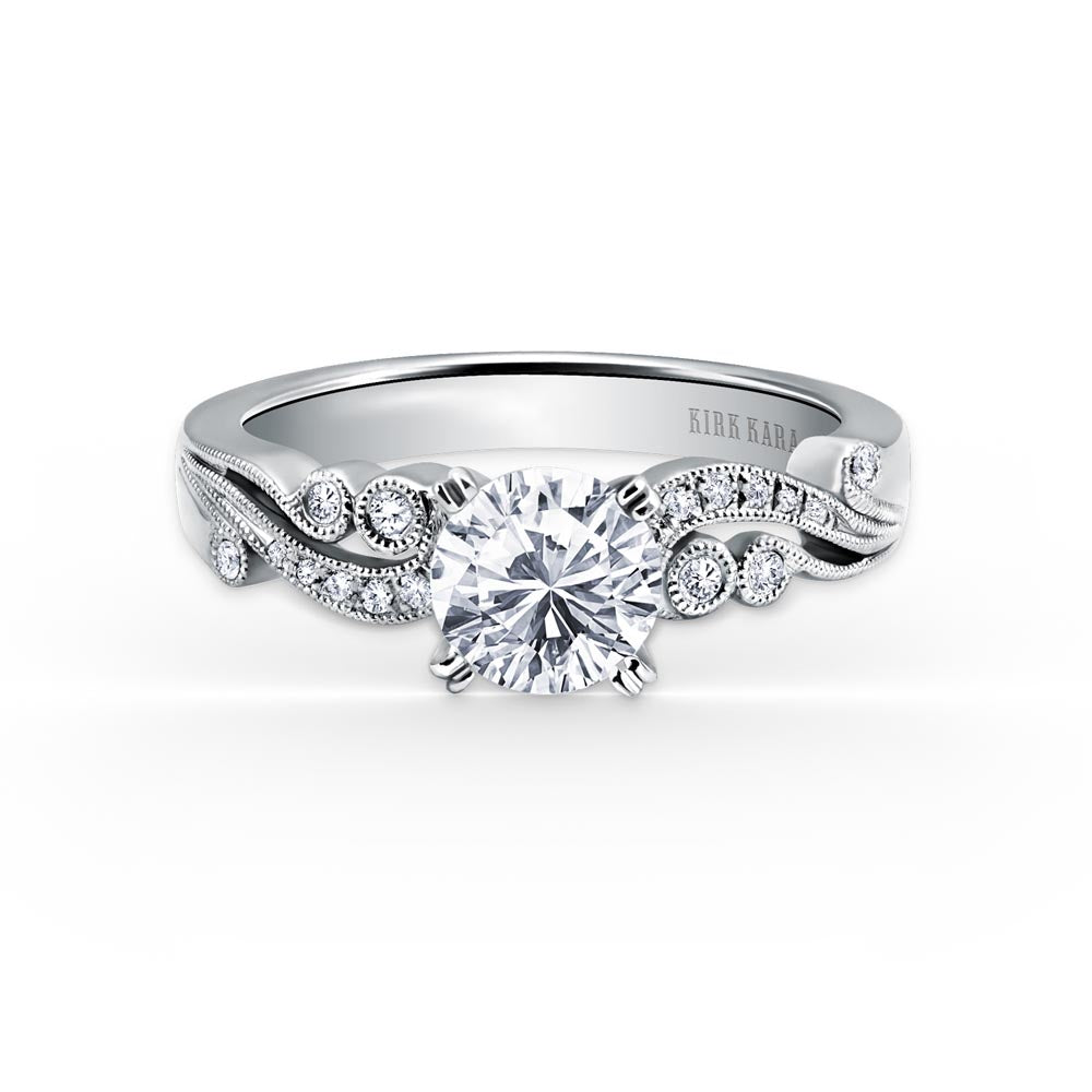 KirkKara Angelique Round Diamond Diamond Engagement Ring