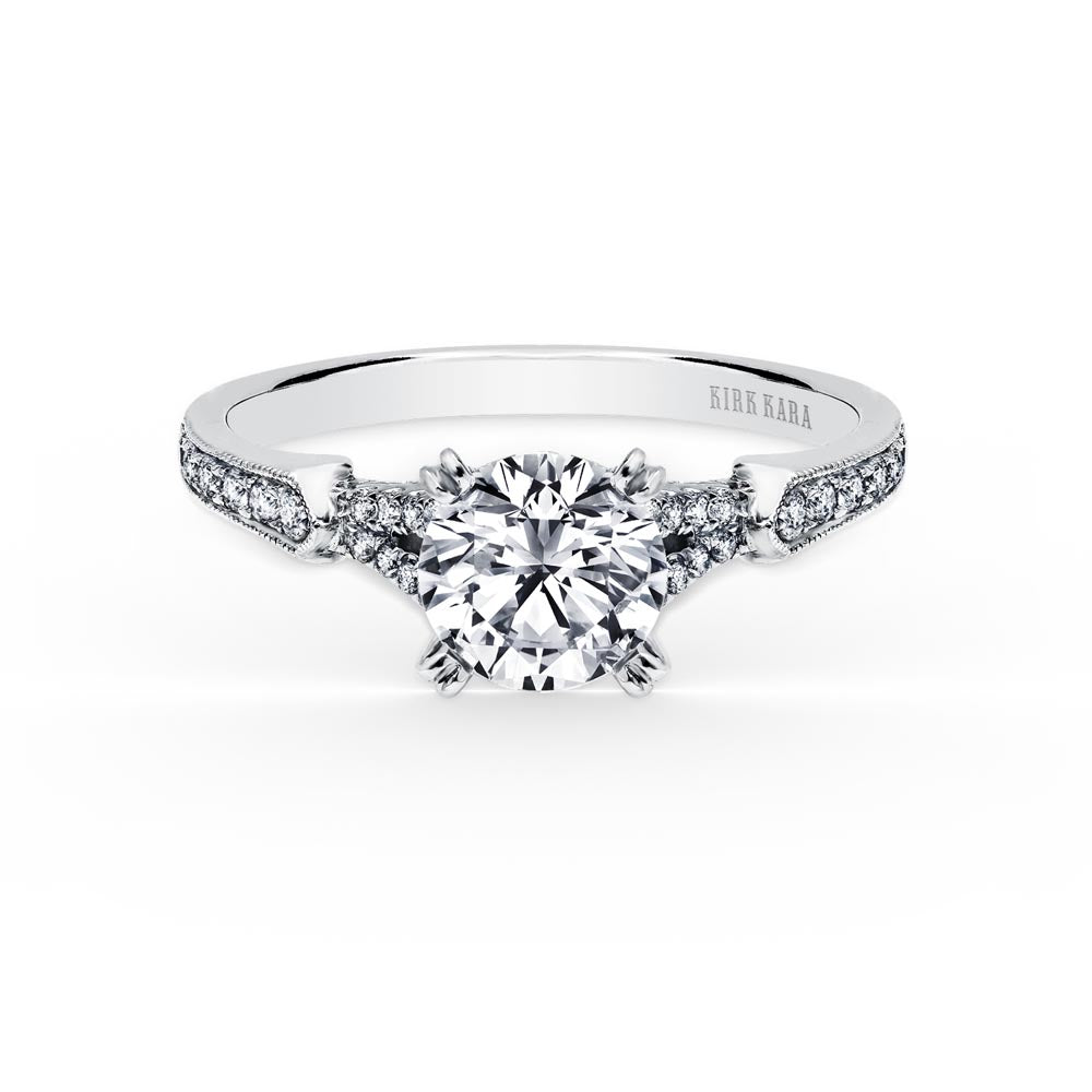 KirkKara Stella Round Diamond Diamond Engagement Ring