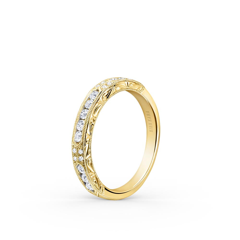 KirkKara Charlotte  Diamond Wedding Band K1390D-BY