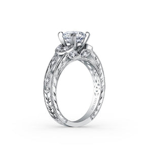KirkKara Dahlia Round Diamond Diamond Engagement Ring