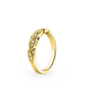 KirkKara Dahlia  Diamond Wedding Band K156Y-B