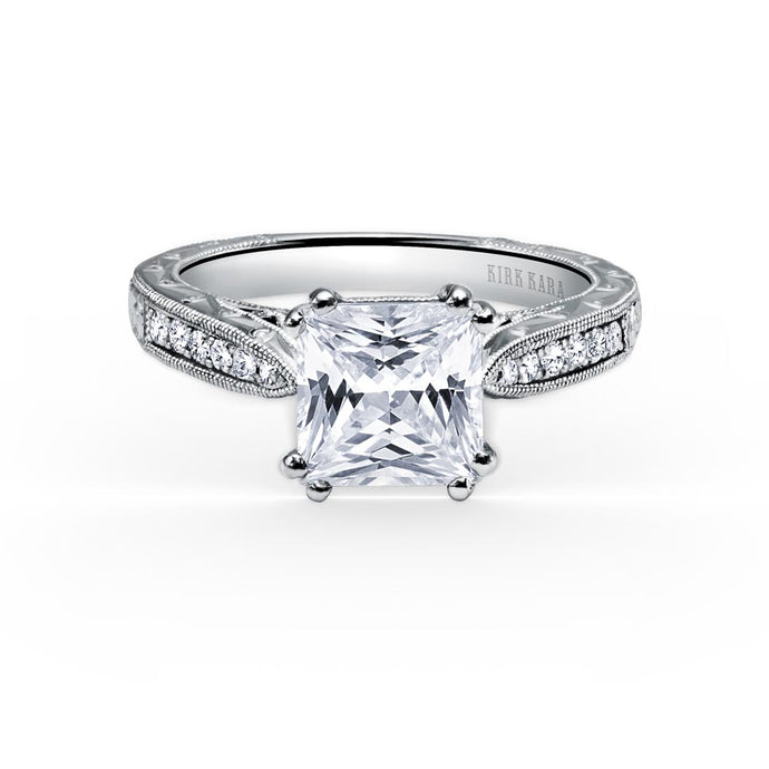 KirkKara Stella Princess Diamond Diamond Engagement Ring