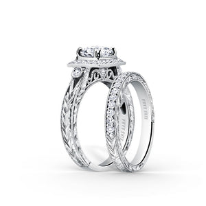 KirkKara Carmella Round Diamond Diamond Engagement Ring