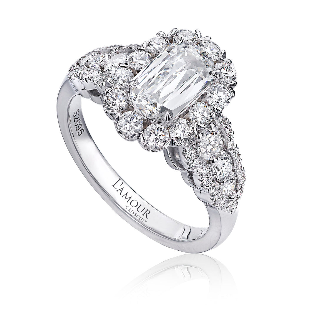 Christopher Designs L'Amour Engagement Ring (1.01 CTW)