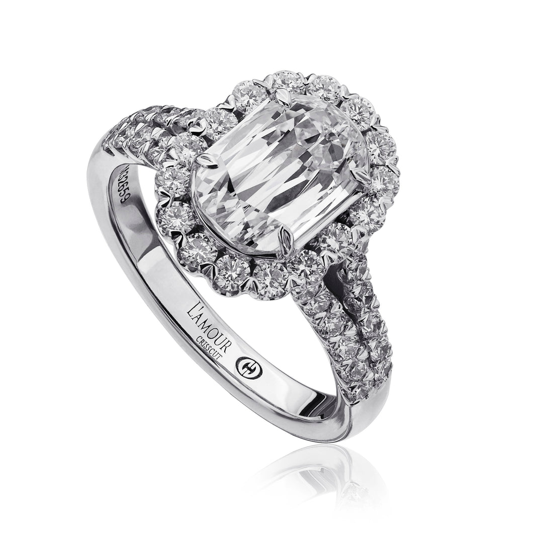 Christopher Designs L'Amour Engagement Ring (0.82 CTW)