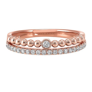 14K Diamond Rose Gold Ring (.20 CTW)