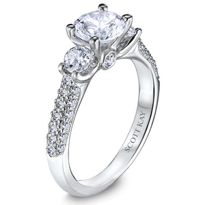 Scott Kay Crown Setting Engagement Ring (0.86  CTW)