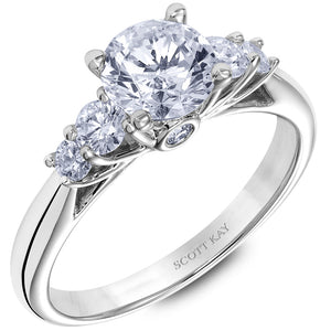 Scott Kay Crown Setting Engagement Ring (0.39  CTW)