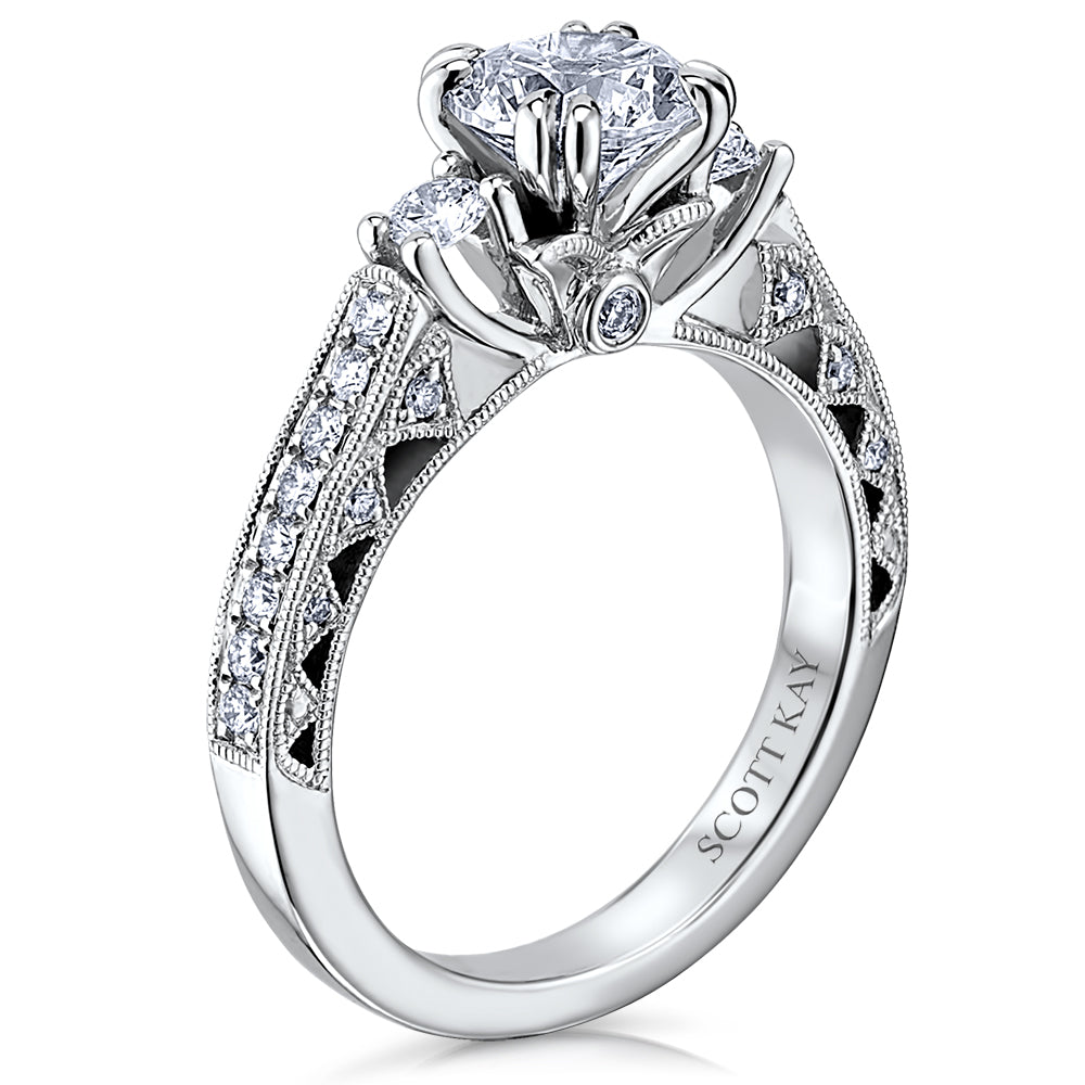 Scott Kay Heaven's Gates Engagement Ring (0.39  CTW)