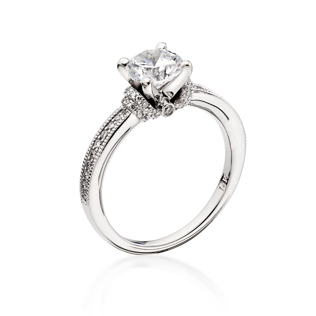 Scott Kay Luminaire Engagement Ring (0.24  CTW)