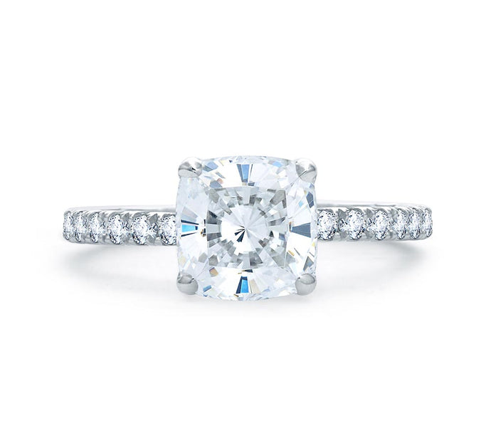 A.JAFFE Art Deco Cushion Diamond Engagement Ring (0.48 ctw)