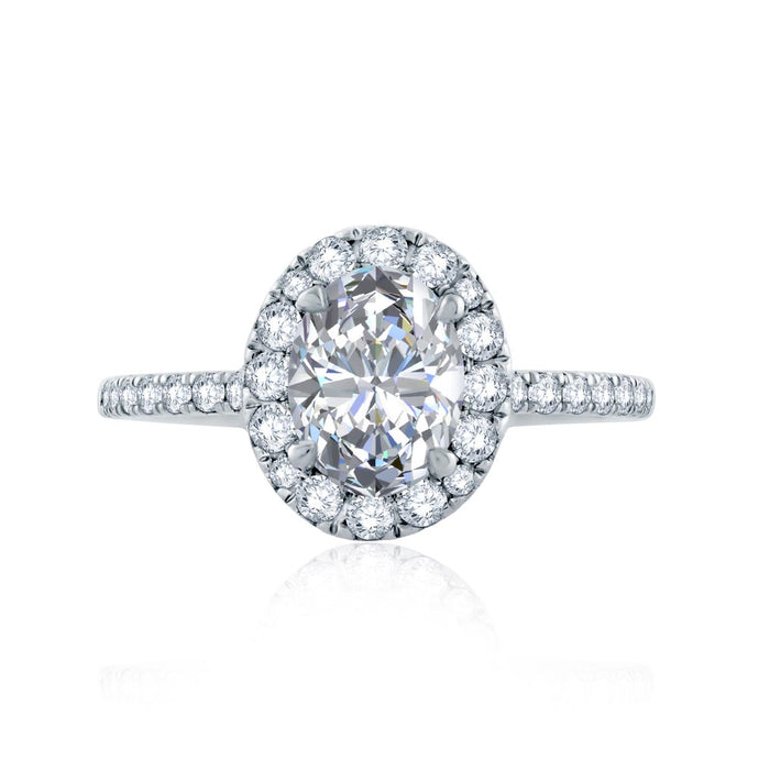 A.JAFFE Classics Oval Diamond Diamond Engagement Ring (0.55 ctw)