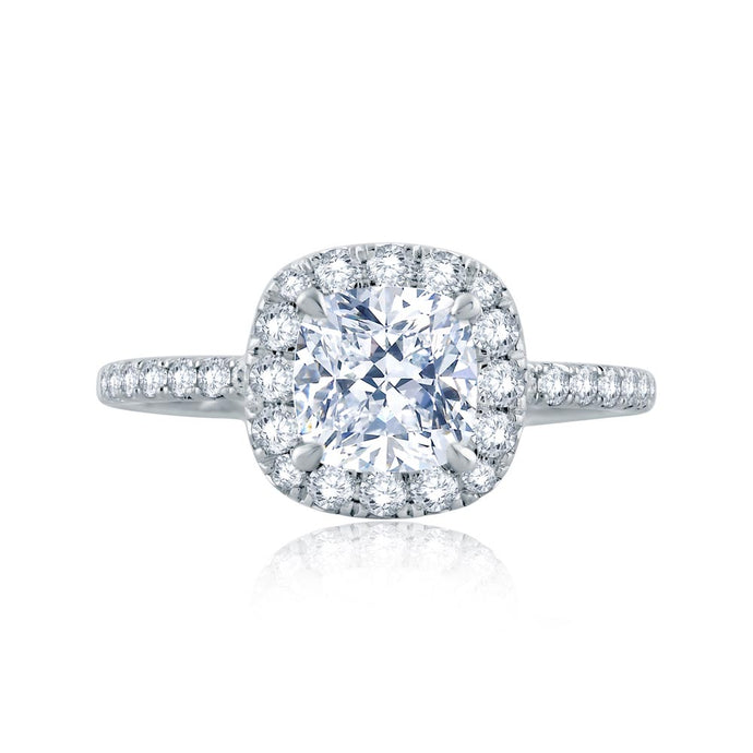 A.JAFFE Classics Cushion Diamond Engagement Ring (0.56 ctw)