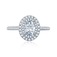 Load image into Gallery viewer, A.JAFFE Classics Oval Diamond Diamond Engagement Ring (0.46 ctw)