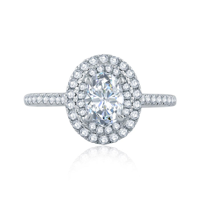 A.JAFFE Classics Oval Diamond Diamond Engagement Ring (0.46 ctw)