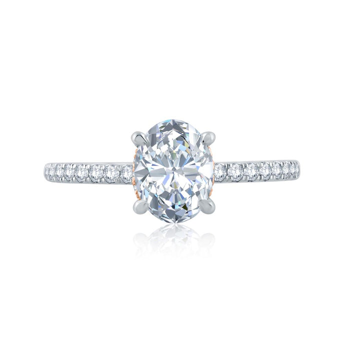 A.JAFFE Classics Oval Diamond Diamond Engagement Ring (0.29 ctw)