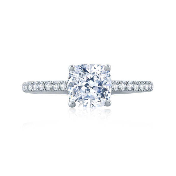 A.JAFFE Classics Cushion Diamond Engagement Ring (0.27 ctw)