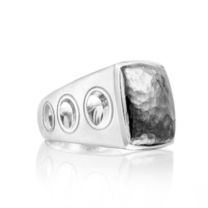 Tacori Monterey Roadster Vented Hammered Silver Ring MR10540_10
