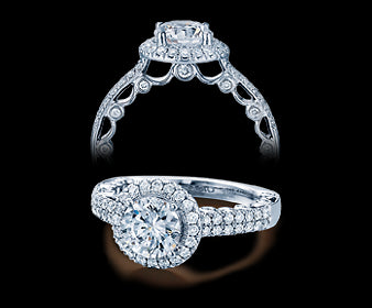 Verragio Paradiso Round Diamond Engagement Ring (0.60 CTW)