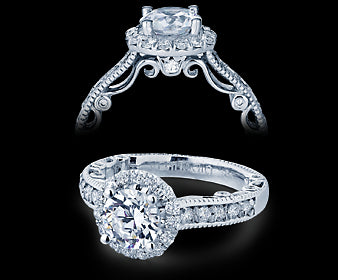 Verragio Paradiso Round Diamond Engagement Ring (0.55 CTW)