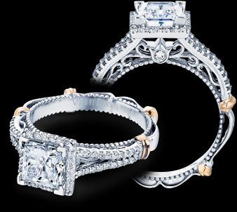 Verragio Parisian Princess Diamond Engagement Ring (0.35 CTW)