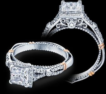 Verragio Parisian Princess Diamond Engagement Ring (0.30 CTW)