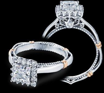 Verragio Parisian Princess Diamond Engagement Ring (0.25 CTW)
